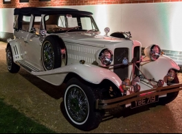 White Beauford wedding car hire in Basingstoke